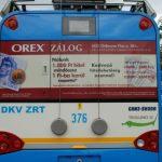 Debrecen trolley back panel advertising