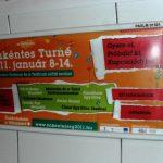 Small billboards at metro escalator